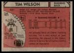 1980 Topps #231  Tim Wilson  Back Thumbnail