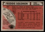 1980 Topps #337  Freddie Solomon  Back Thumbnail