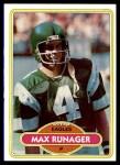 1980 Topps #227  Max Runager  Front Thumbnail