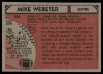 1980 Topps #350  Mike Webster  Back Thumbnail