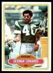 1980 Topps #377  Herman Edwards  Front Thumbnail