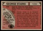 1980 Topps #214  George Starke  Back Thumbnail
