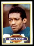 1980 Topps #317  Dave Brown  Front Thumbnail