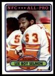 1980 Topps #260  Lee Roy Selmon  Front Thumbnail