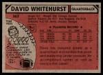 1980 Topps #367  David Whitehurst  Back Thumbnail