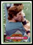 1980 Topps #274  Jeff Komlo  Front Thumbnail