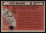 1980 Topps #522  Coy Bacon  Back Thumbnail