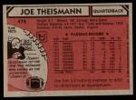 1980 Topps #475  Joe Theismann  Back Thumbnail