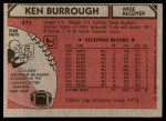 1980 Topps #471  Ken Burrough  Back Thumbnail