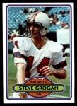 1980 Topps #435  Steve Grogan  Front Thumbnail