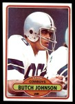 1980 Topps #506  Butch Johnson  Front Thumbnail