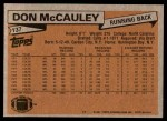 1981 Topps #137  Don McCauley  Back Thumbnail