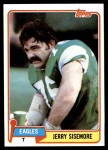 1981 Topps #112  Jerry Sisemore  Front Thumbnail