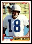1981 Topps #87  Herman Weaver  Front Thumbnail