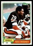 1981 Topps #152  Ross Browner  Front Thumbnail