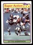1981 Topps #12  Ottis Anderson  Front Thumbnail