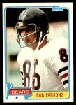 1981 Topps #237  Bob Parsons  Front Thumbnail