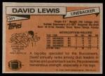 1981 Topps #341  David Lewis  Back Thumbnail