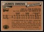 1981 Topps #263  James Owens  Back Thumbnail