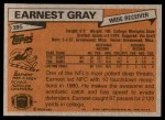 1981 Topps #395  Earnest Gray  Back Thumbnail