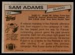 1981 Topps #352  Sam Adams  Back Thumbnail