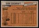 1981 Topps #458  Don Cockroft  Back Thumbnail