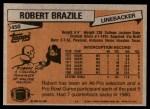 1981 Topps #450  Robert Brazile  Back Thumbnail