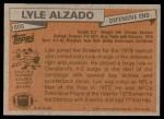 1981 Topps #505  Lyle Alzado  Back Thumbnail
