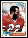 1981 Topps #497  Rolland Lawrence  Front Thumbnail