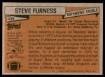 1981 Topps #436  Steve Furness  Back Thumbnail