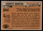 1981 Topps #15  Harvey Martin  Back Thumbnail