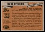 1981 Topps #23  Louie Kelcher  Back Thumbnail