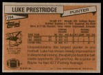 1981 Topps #164  Luke Prestridge  Back Thumbnail