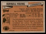1981 Topps #72  Roynell Young  Back Thumbnail