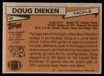 1981 Topps #49  Doug Dieken  Back Thumbnail