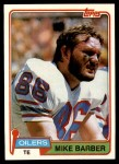 1981 Topps #99  Mike Barber  Front Thumbnail
