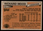 1981 Topps #181  Richard Wood  Back Thumbnail
