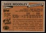 1981 Topps #174  David Woodley  Back Thumbnail