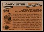 1981 Topps #289  Gary Jeter  Back Thumbnail