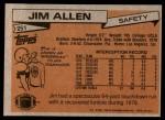 1981 Topps #251  Jim Allen  Back Thumbnail