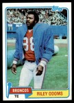 1981 Topps #307  Riley Odoms  Front Thumbnail
