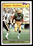 1981 Topps #361  James Lofton  Front Thumbnail