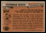 1981 Topps #246  Sherman White  Back Thumbnail