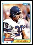 1981 Topps #348  Jim Jensen  Front Thumbnail