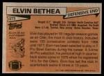 1981 Topps #272  Elvin Bethea  Back Thumbnail