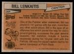 1981 Topps #268  Bill Lenkaitis  Back Thumbnail