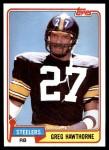 1981 Topps #297  Greg Hawthorne  Front Thumbnail