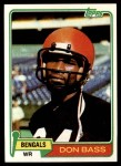 1981 Topps #347  Don Bass  Front Thumbnail