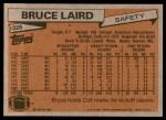 1981 Topps #326  Bruce Laird  Back Thumbnail