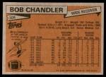 1981 Topps #308  Bob Chandler  Back Thumbnail